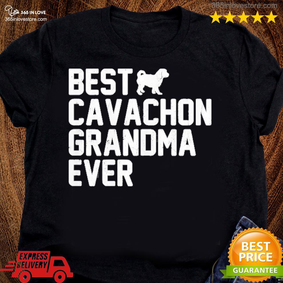 Best grandma cavachon ever vintage s women tee shirt
