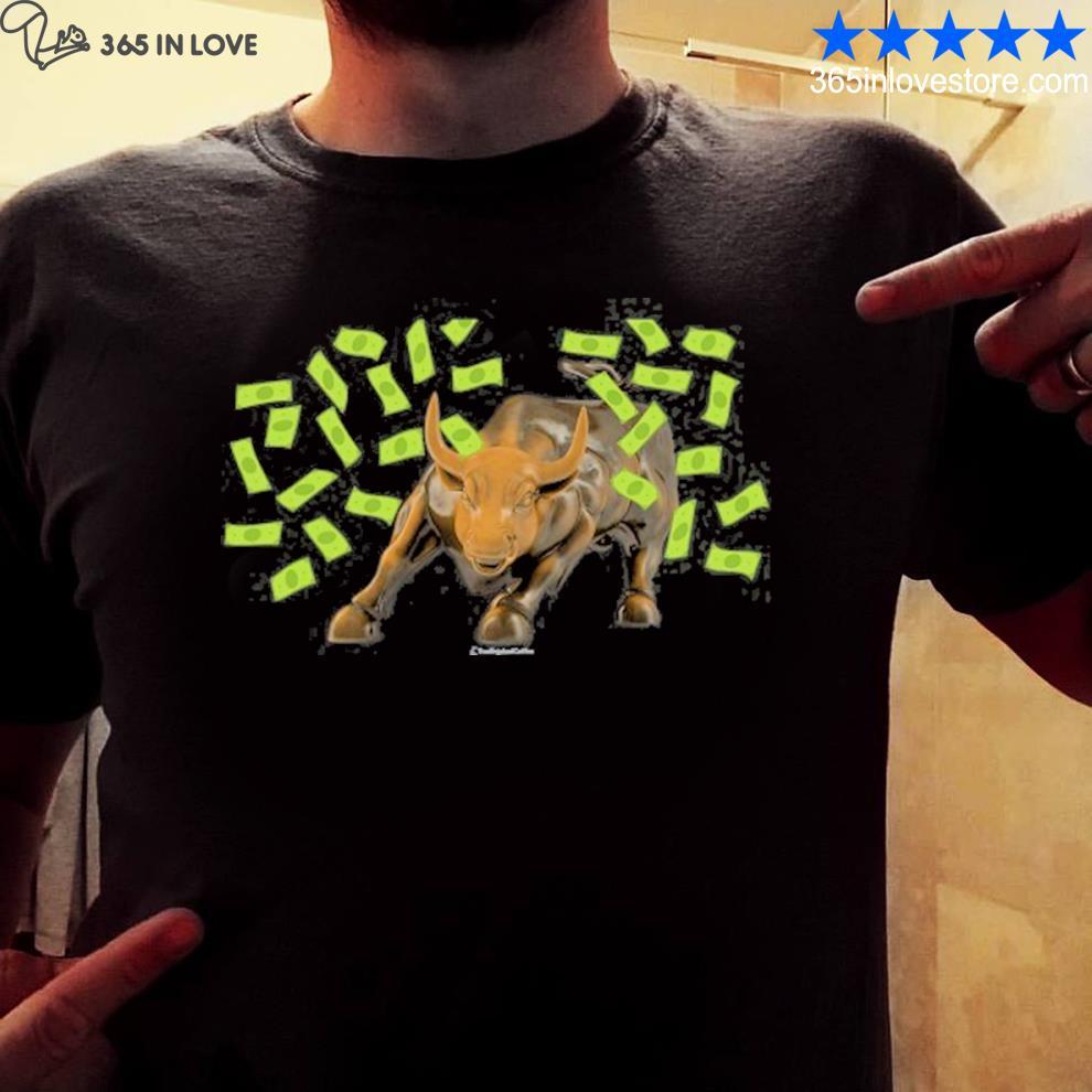 Bull charging shirt