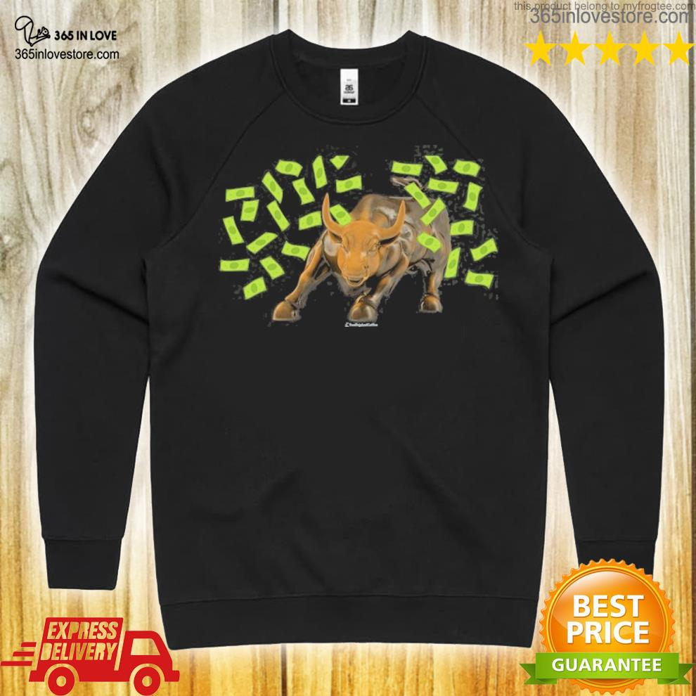 Bull charging s sweater