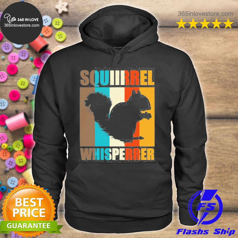 Forest animal lover squirrel whisperer gift retro squirrel s hoodie tee