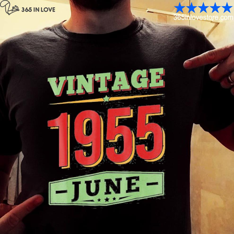 June 1955 66 years old 66th birthday gifts shirt