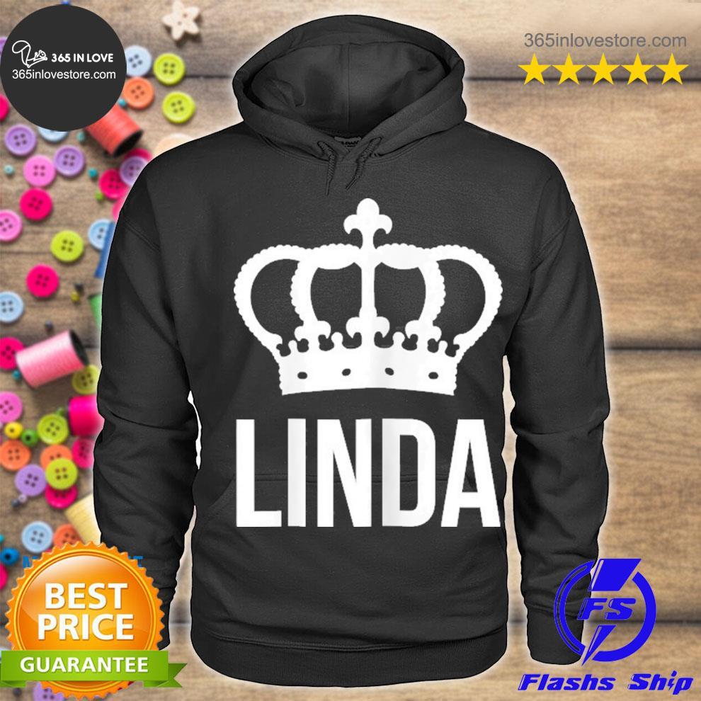 Linda name for women queen princess crown design s hoodie tee