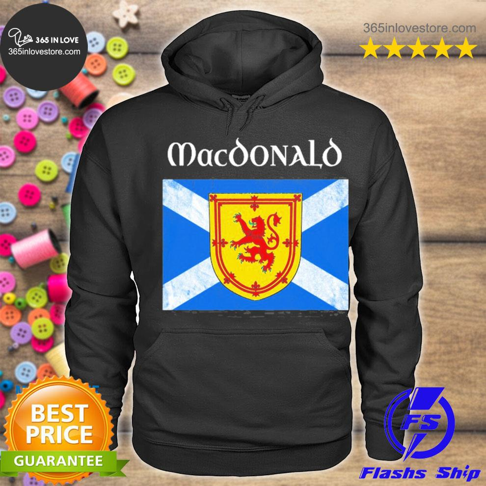 MacDonald scottish clan name scotland flag s hoodie tee