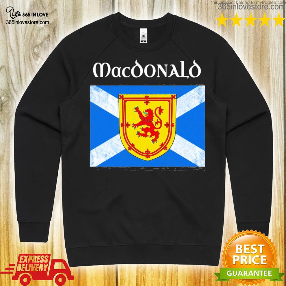 MacDonald scottish clan name scotland flag s sweater