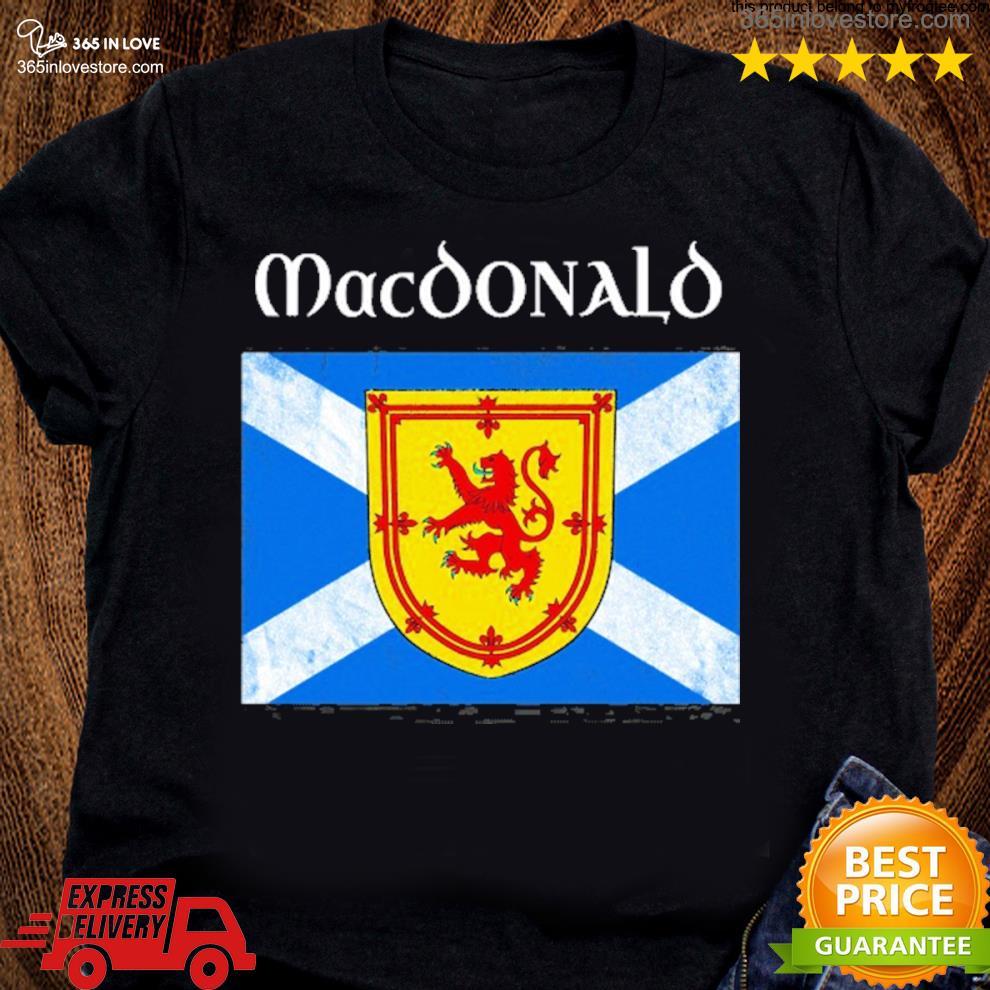 MacDonald scottish clan name scotland flag s women tee shirt