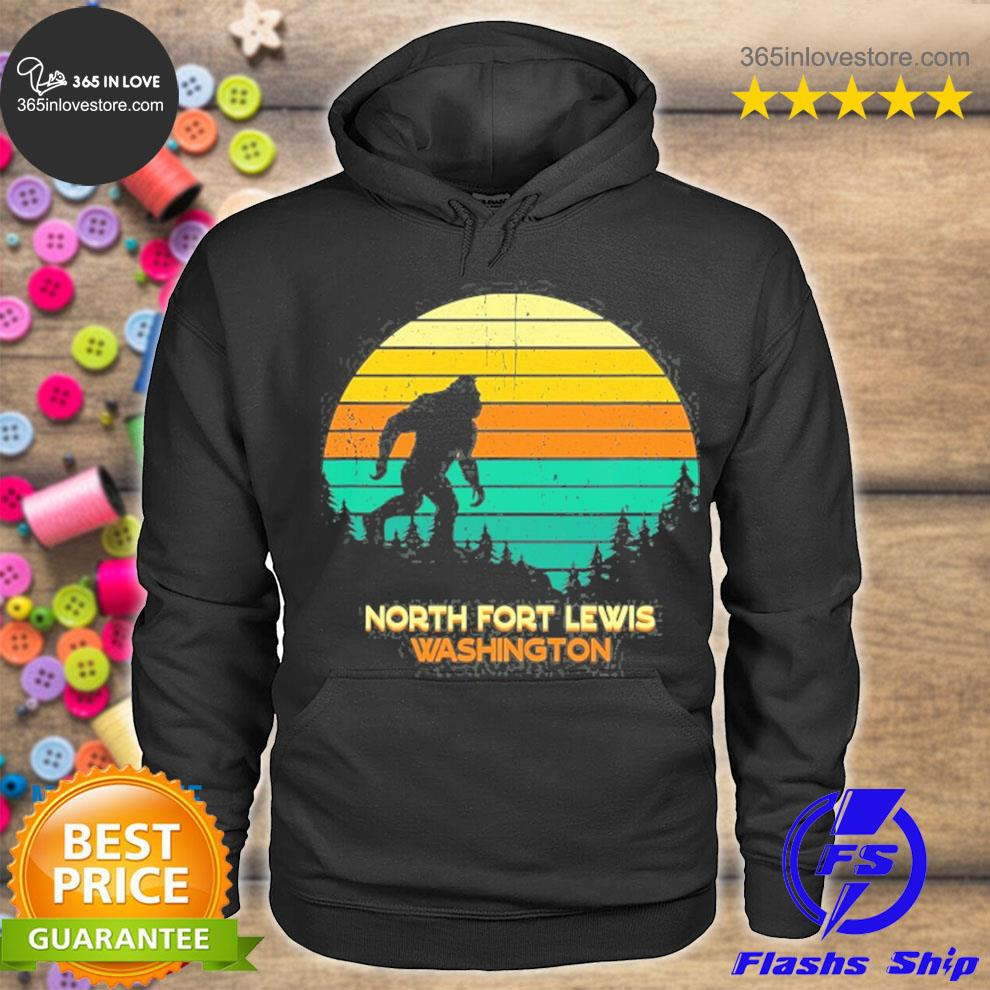 Retro north fort lewis Washington big foot s hoodie tee