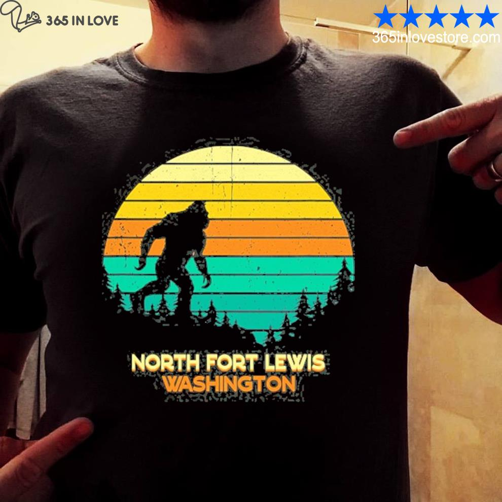 Retro north fort lewis Washington big foot shirt
