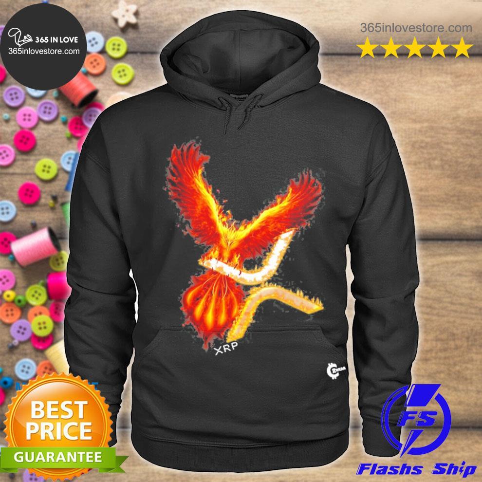 Xrp rising phoenix cryptocurrency s hoodie tee
