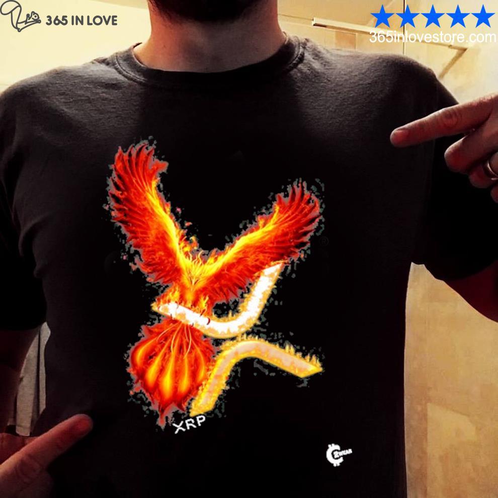 Xrp rising phoenix cryptocurrency shirt