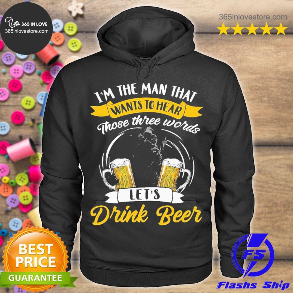 Black labrador drink beer s hoodie tee
