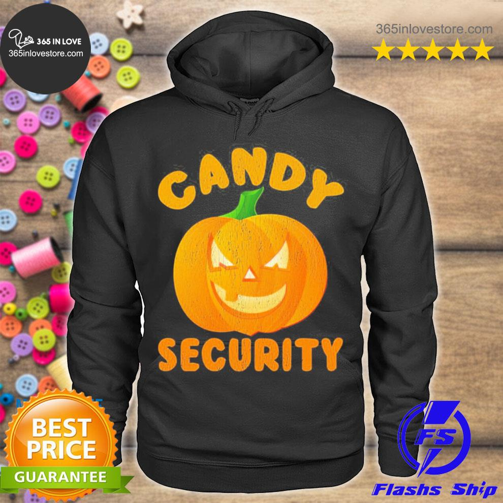 Candy security halloween funny 2021 s hoodie tee