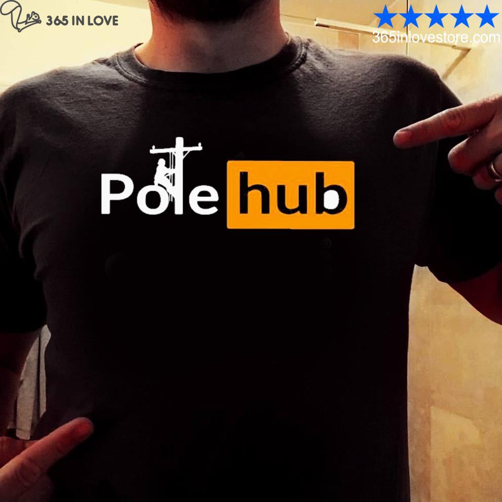 Cross lineman pole hub shirt