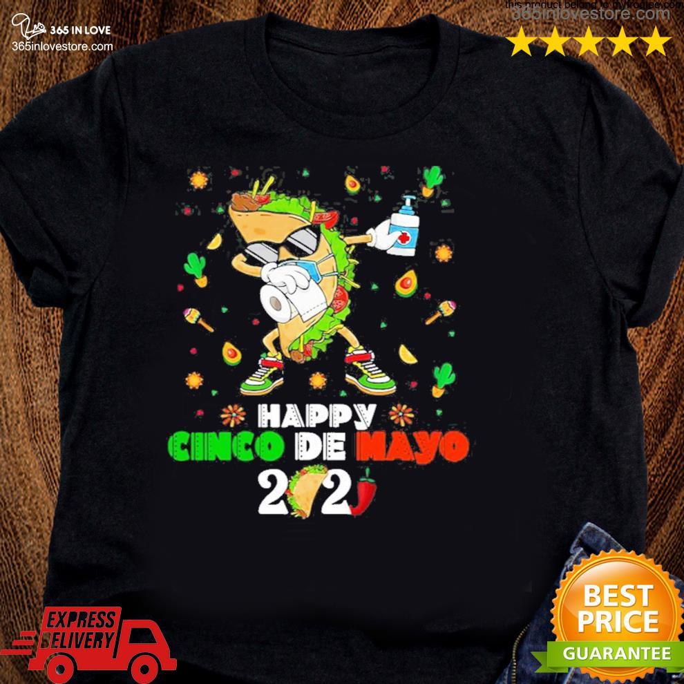 Dabbing Taco Cinco De Mayo 2021 Face Mask Quarantine s women tee shirt