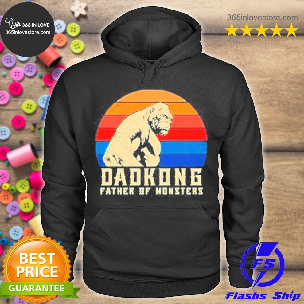 Dadkong father of monsters vintage happy father's day 2021 s hoodie tee