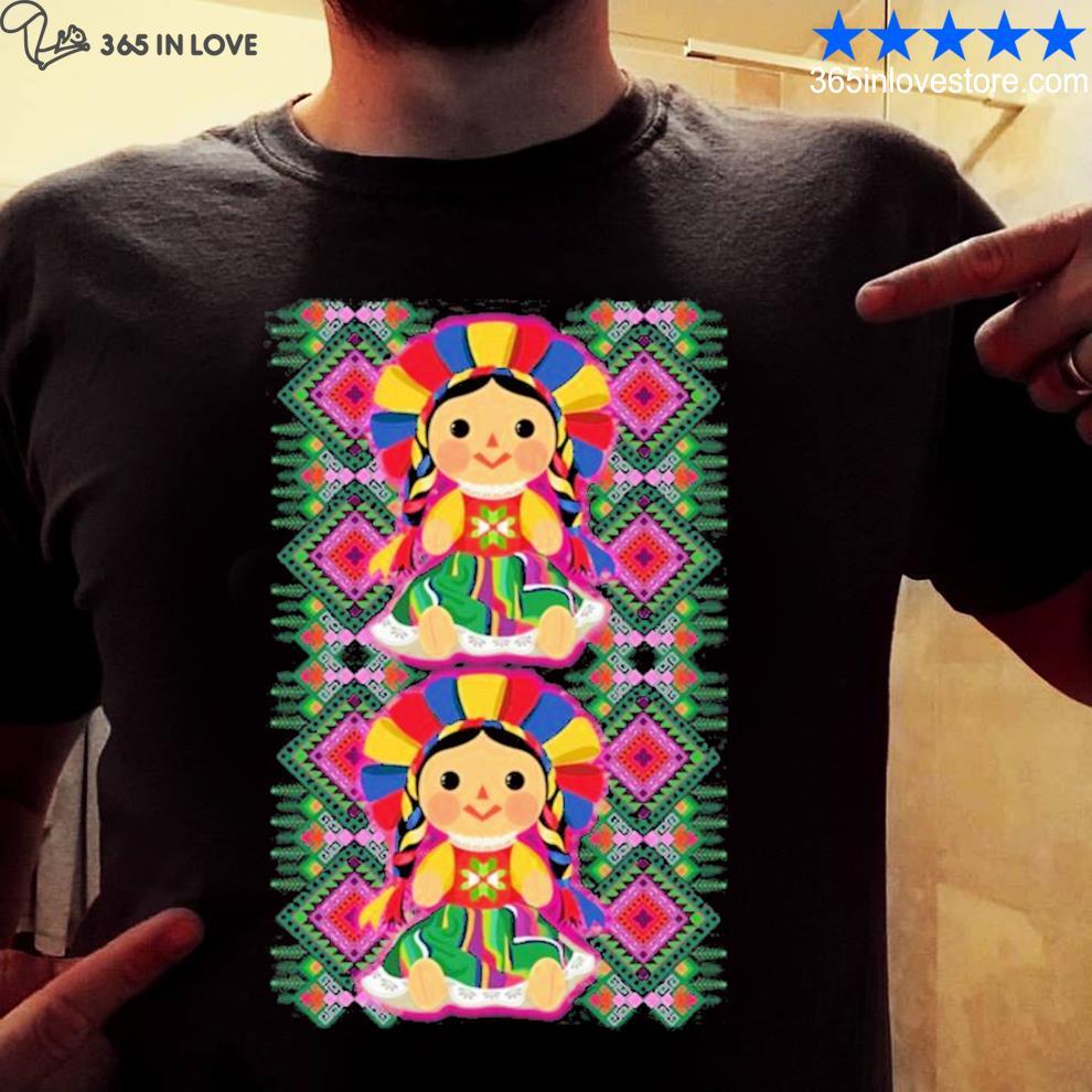 Mexican doll maria mazahua lele tenangos Mexico NEW 2021 s mens shirt