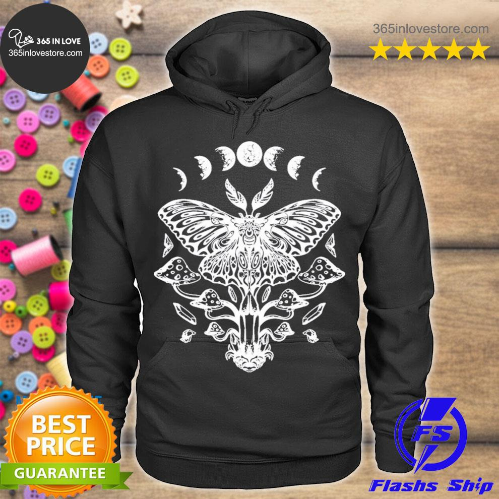 Moth crystals moon phases dark goth gothic occult wicca new 2021 s hoodie tee