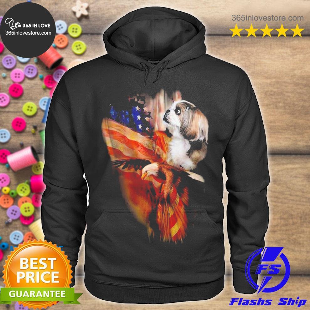 Shih tzu American wings s hoodie tee