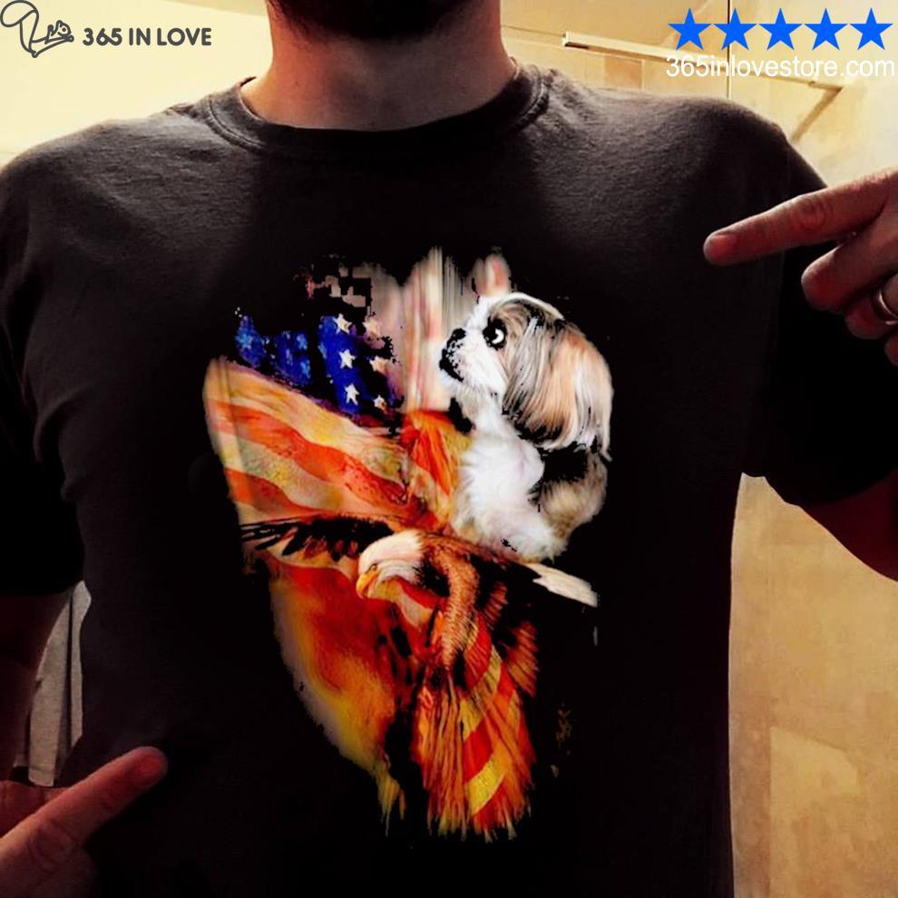Shih tzu American wings shirt