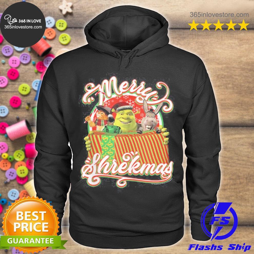 Shrekmas present text poster s hoodie tee