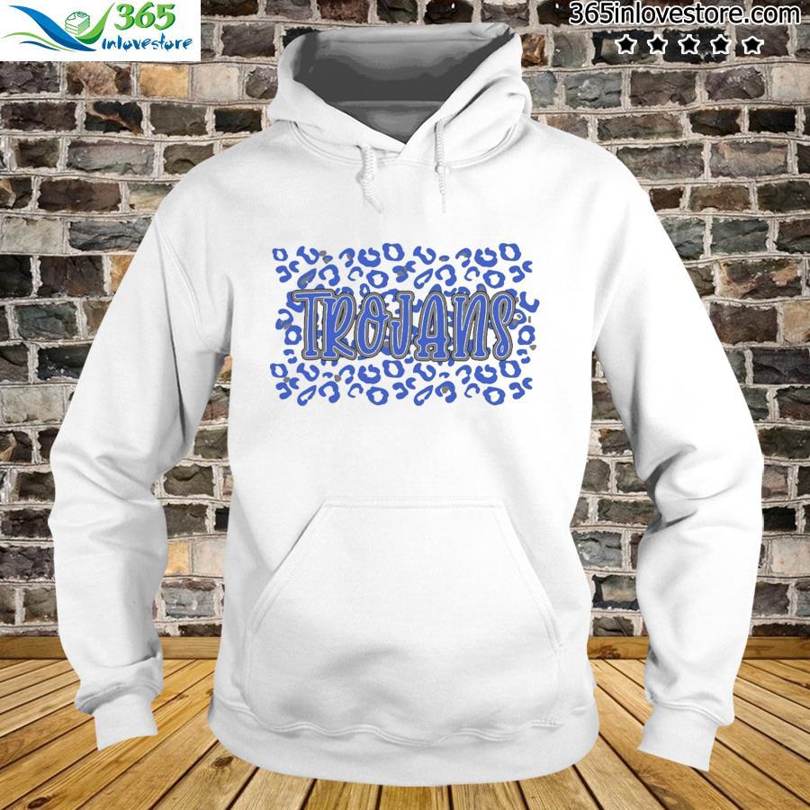 Leopard School Spirit Mascot - Trojans Shirt hoodie