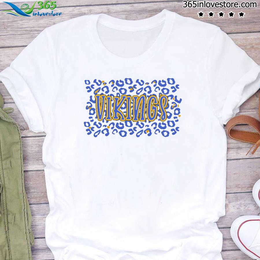 Leopard School Spirit Mascot - Vikings Shirt