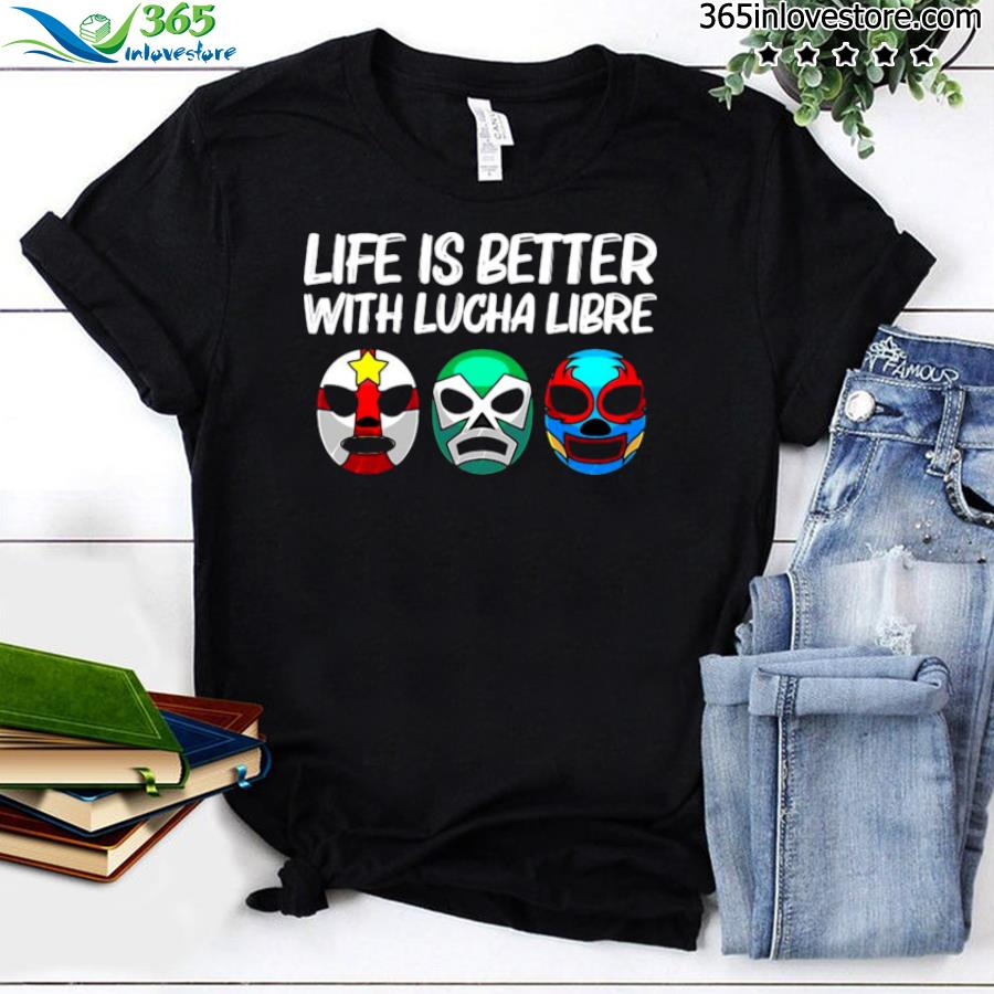 Lucha libre gift for men women mexican wrestling mask shirt