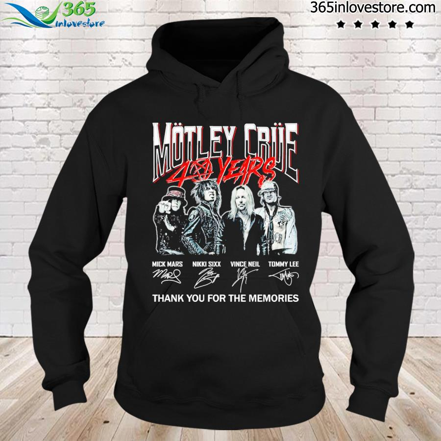 Motley Crue 40 years signatures thank you for the memories s hoodie