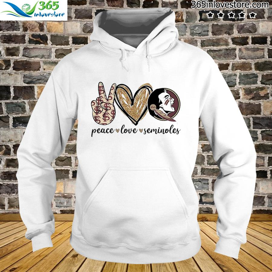 Official Peace Love Seminoles Shirt hoodie
