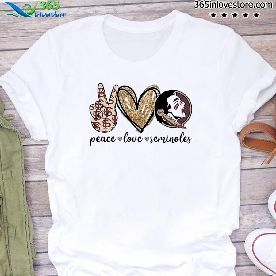 Official Peace Love Seminoles Shirt