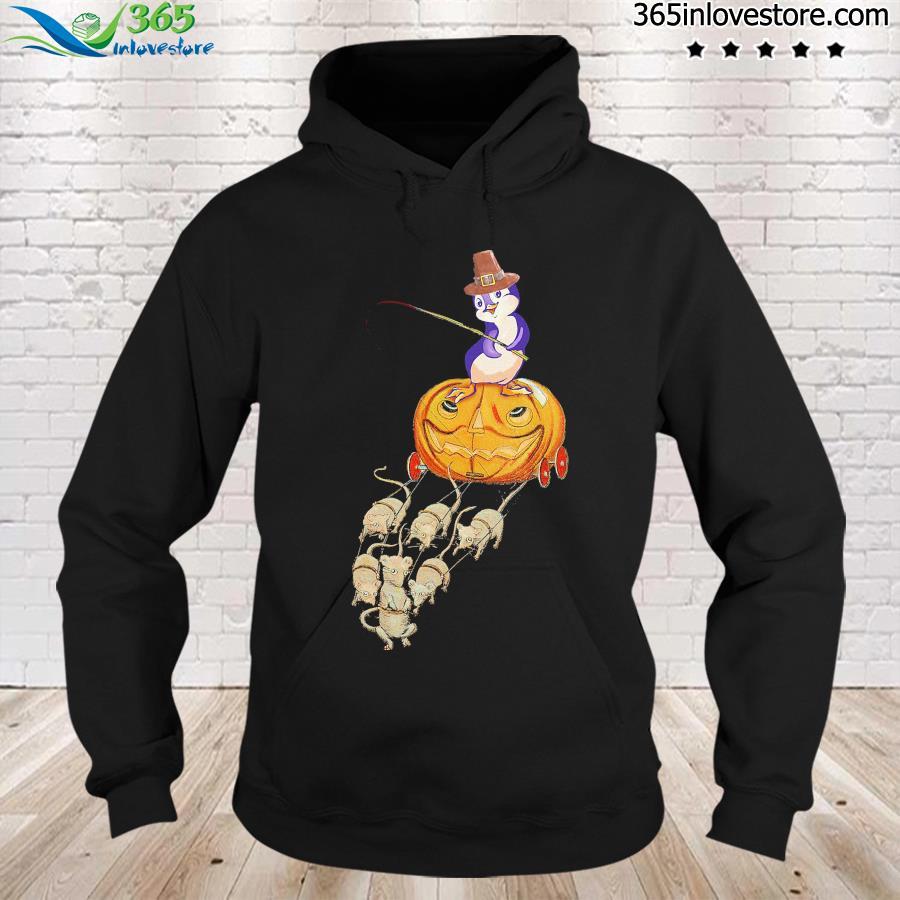 Penguin Funny Pumkin Cart Shirt hoodie