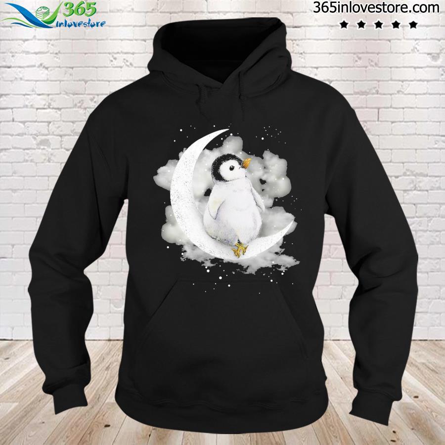 Penguin Sit On The Moon Shirt hoodie