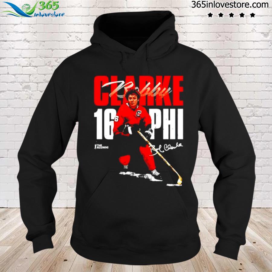 Philadelphia flyers bobby clarke signature s hoodie