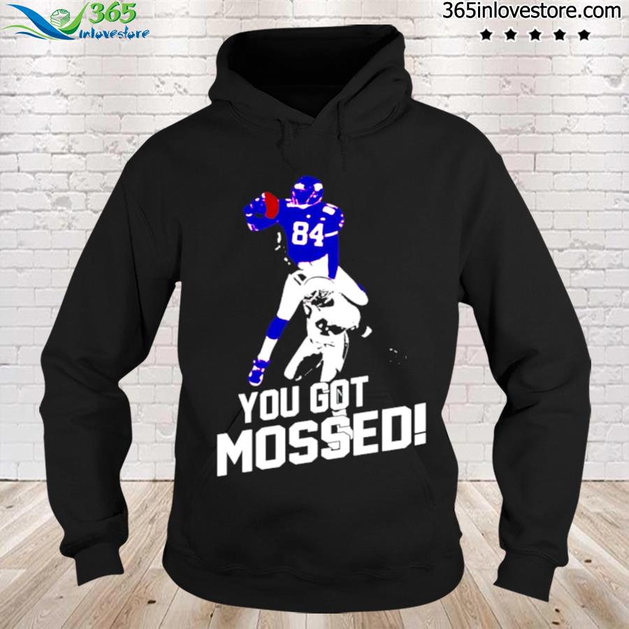 Randy moss over charles woodson you got mossed s hoodie